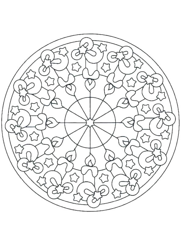 600x800 Christmas Themed Coloring Pages Mandala Coloring Pages Free