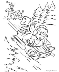 235x288 Ice Skating Winter Themed Coloring Pages Coloring Pages Retro