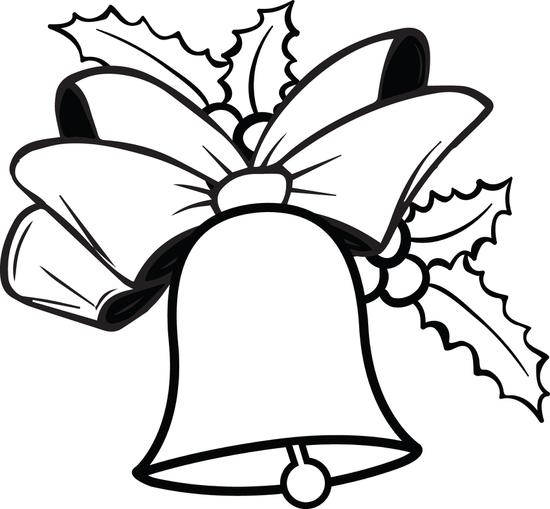 550x509 Christmas Bells Coloring Pages