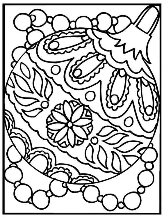 564x749 Free Printable Ornament Coloring Pages Christmas Things To Mak