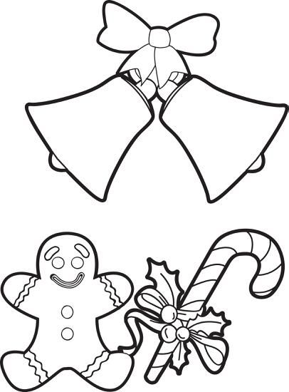 406x550 Fun Christmas Things Coloring Page For Kids Christmas Things