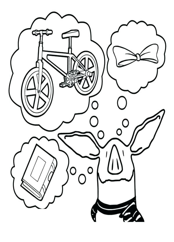 600x834 Olivia The Pig Coloring Pages The Pig Coloring Pages The Pig Think
