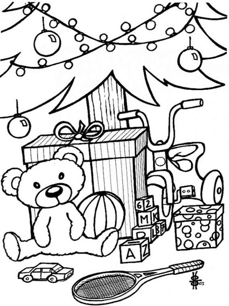 750x1000 Christmas Toys Coloring Pages Free Printable Christmas Toys