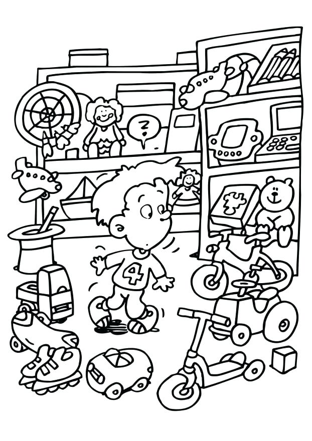 622x880 Coloring Page Toy Store Img Download Large Image Christmas