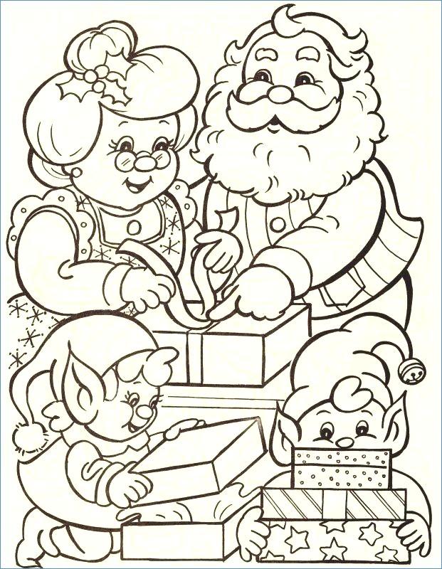 621x800 Santa And Christmas Toys Coloring Page