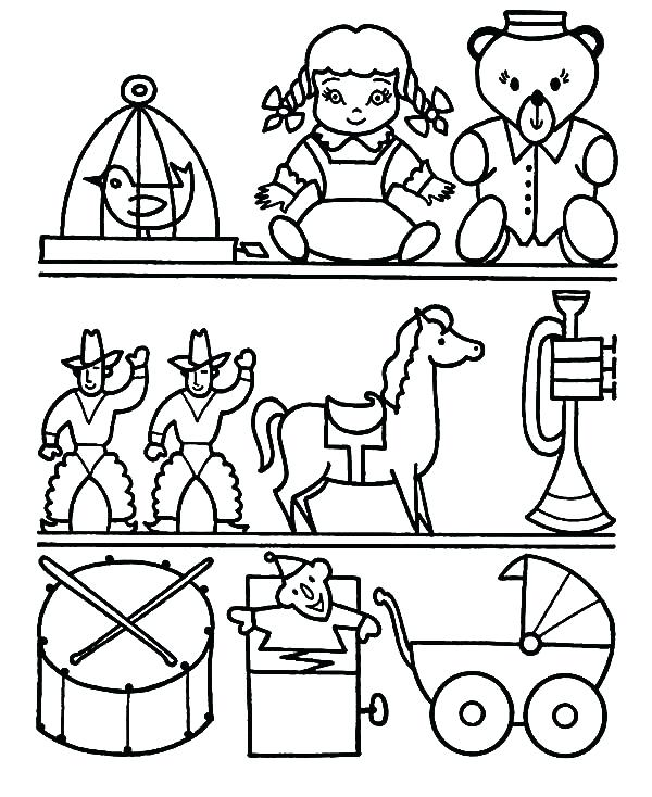 600x734 Toys Colouring Sheets Christmas Toys Colouring Pages Kids Coloring