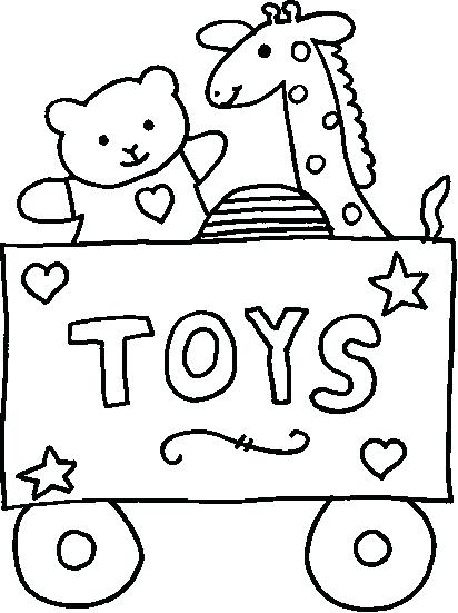 Christmas Toys Coloring Pages At Getdrawings Com Free For