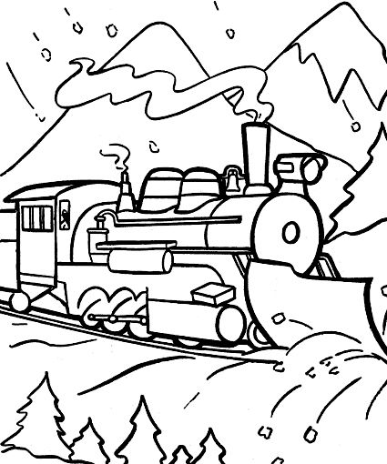 Christmas Train Coloring Pages at GetDrawings.com | Free for ...