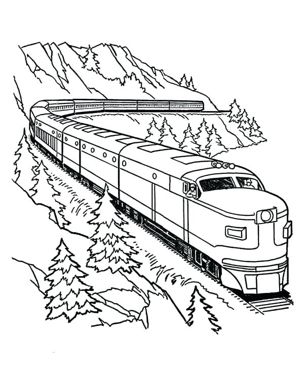 600x734 Free Printable Christmas Train Coloring Pages For Download