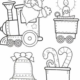 268x268 Holiday Train Coloring Page Archives