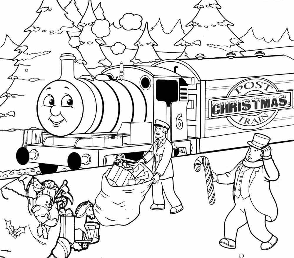 1000x877 Thomas The Train Coloring Pages Christmas Holiday Christmas
