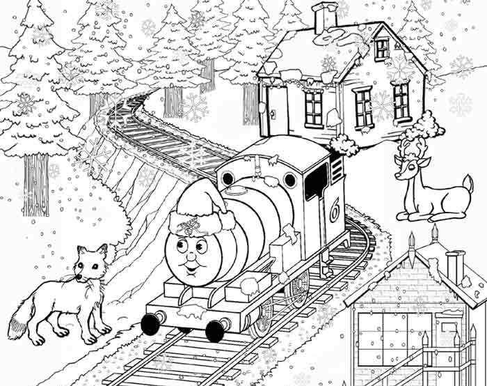 700x554 Thomas The Train Coloring Pages For Christmas