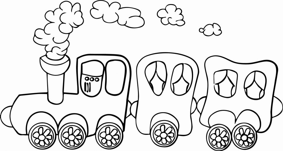 960x514 Train Coloring Pages Pictures High Thomas The Printable Tank