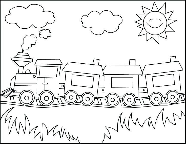 735x568 Train Coloring Pages Printable Free Train Coloring Pages Printable