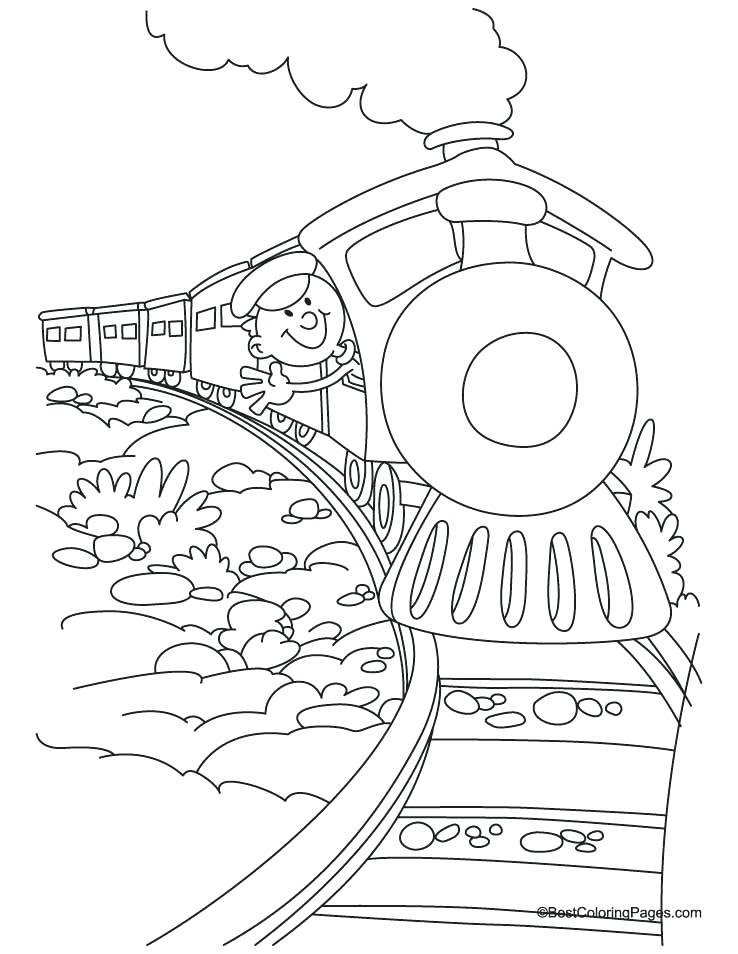 738x954 Polar Express Train Coloring Pages