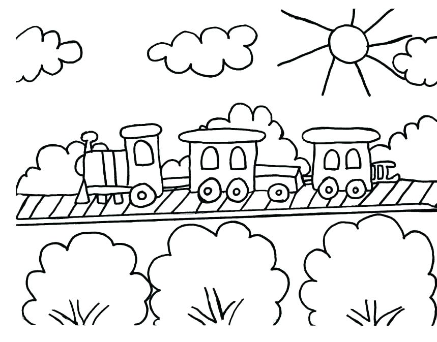 859x673 Train Coloring Pictures