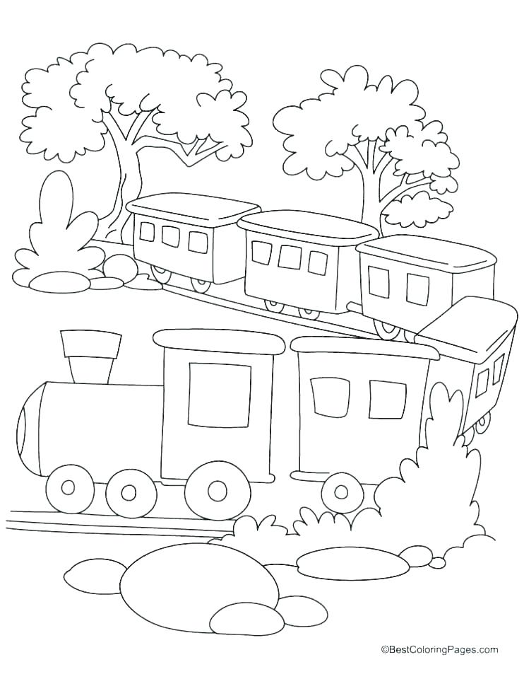 742x960 Christmas Train Coloring Pages Coloring Train Pictures Polar
