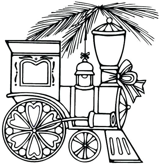 525x541 Christmas Train Coloring Pages Train Coloring Pages Train Coloring