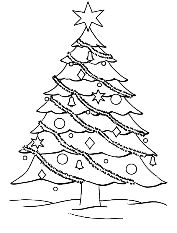 600x789 Decorate Your Christmas Trees Coloring Pages Color Luna