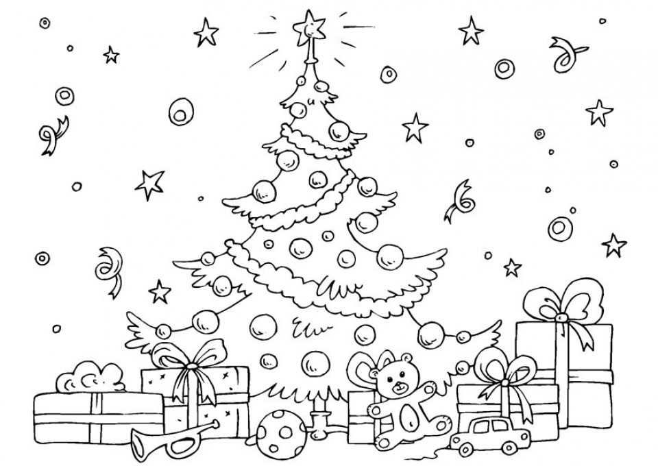 960x680 Free Christmas Tree Coloring Pages Free Printable Christmas