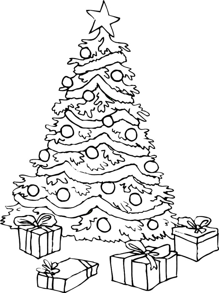 700x936 Christmas Tree Coloring Page