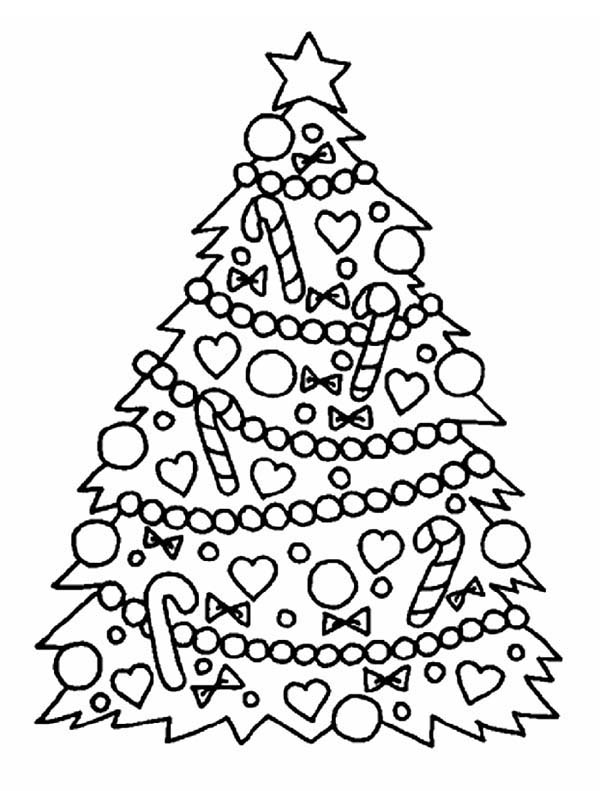 600x791 Gorgeous Christmas Tree For Christmas Coloring Page