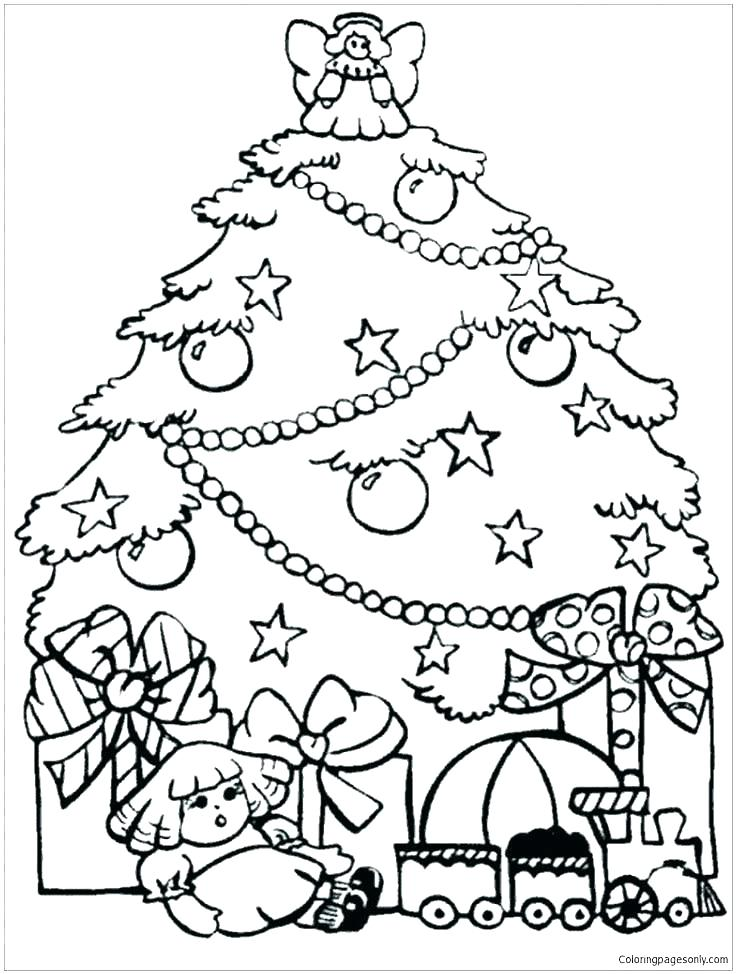 736x974 Printable Christmas Ornaments To Color Printable Tree Coloring