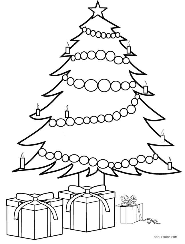 647x850 Printable Christmas Tree Coloring Pages For Kids