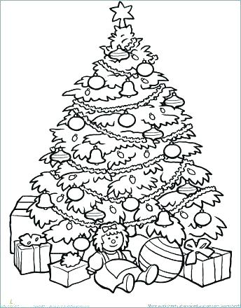 344x440 Christmas Tree Coloring Page Printable