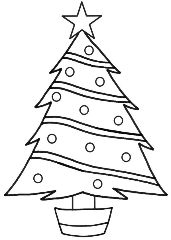 600x839 Christmas Tree Coloring Page Printable