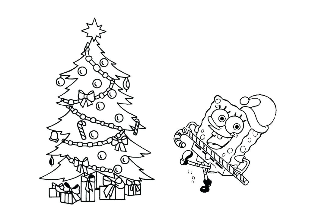 Christmas Tree Coloring Page Free
