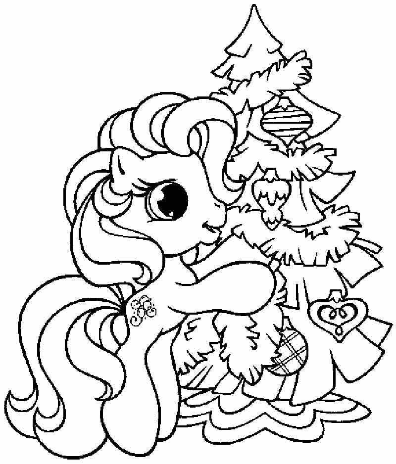 800x938 Pinkie Pie And Christmas Tree Coloring Pages