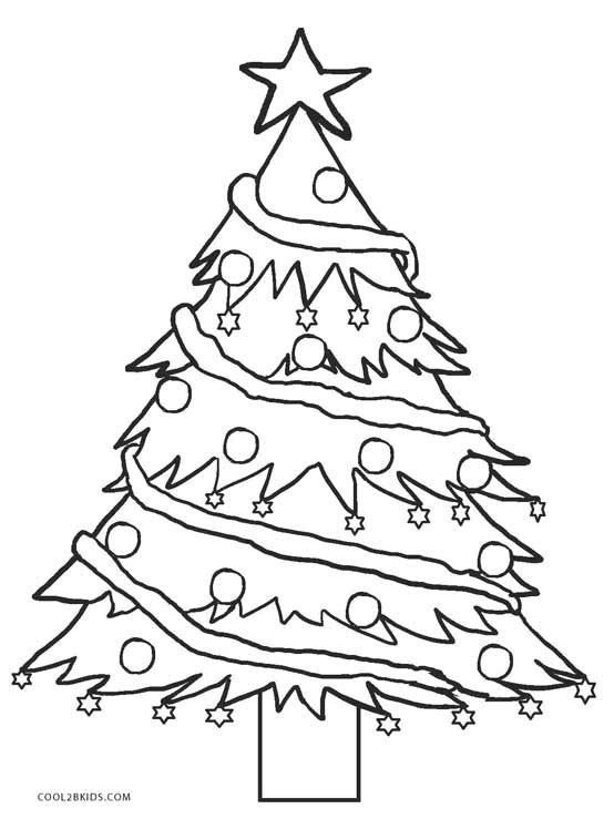 554x739 Printable Christmas Tree Coloring Pages For Kids