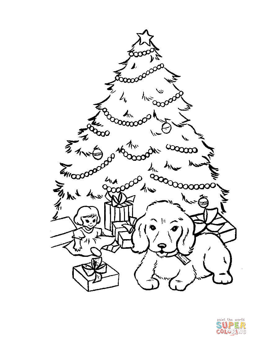 816x1104 Sizable Fir Tree Coloring Page Christmas Pages