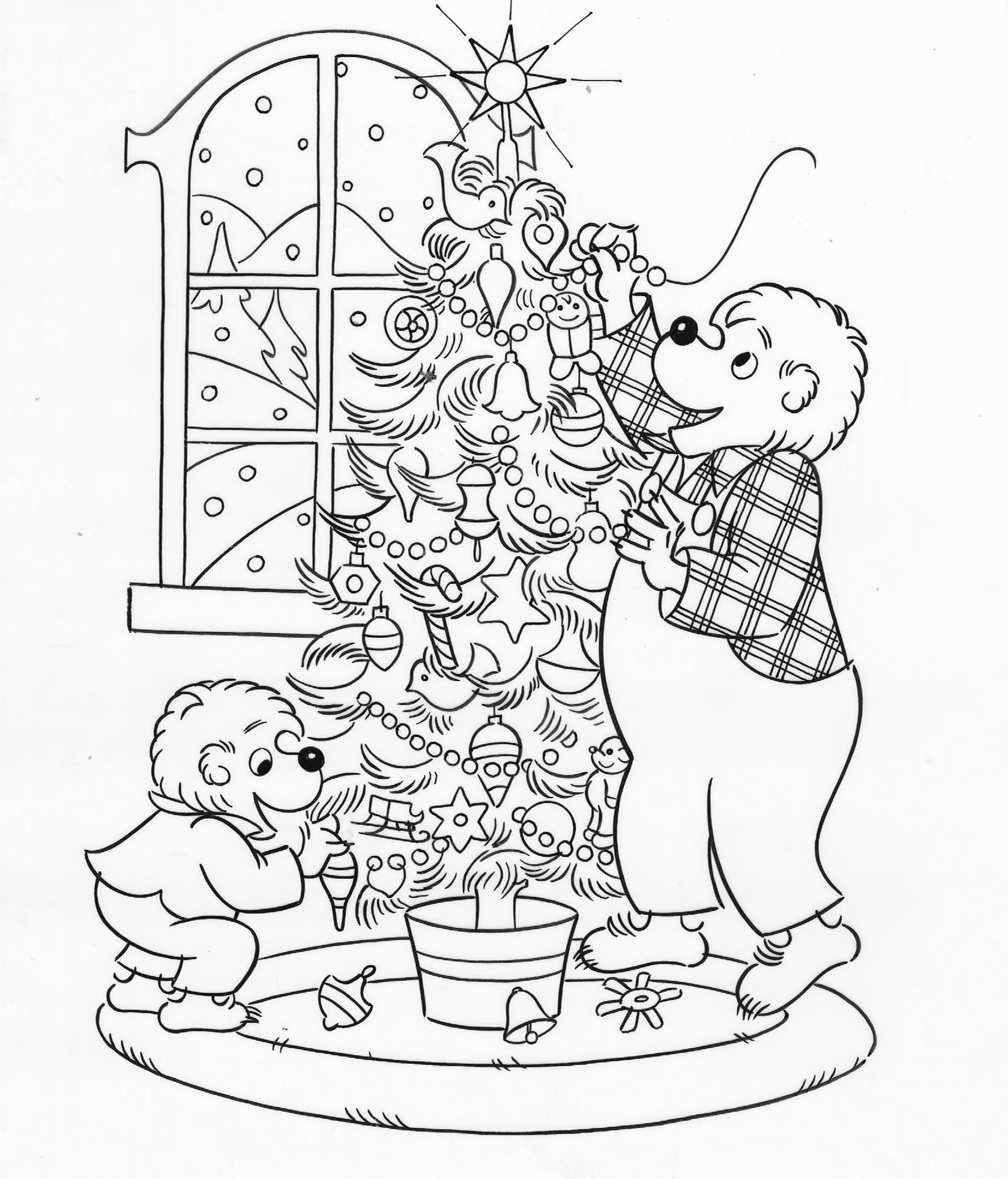 1679x1963 The Berenstain Bears Christmas Tree Coloring Page Free Printable