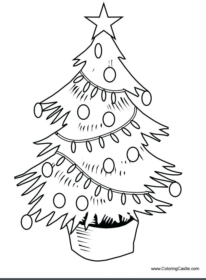 686x930 Tree Coloring Pages Christmas Tree Coloring Pages Free