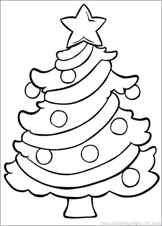 567x794 Christmas Tree Coloring Pages Printable Tree Coloring Pages