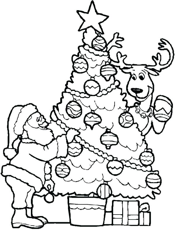 600x790 Christmas Tree Coloring Pages Tree Coloring Sheet Tree