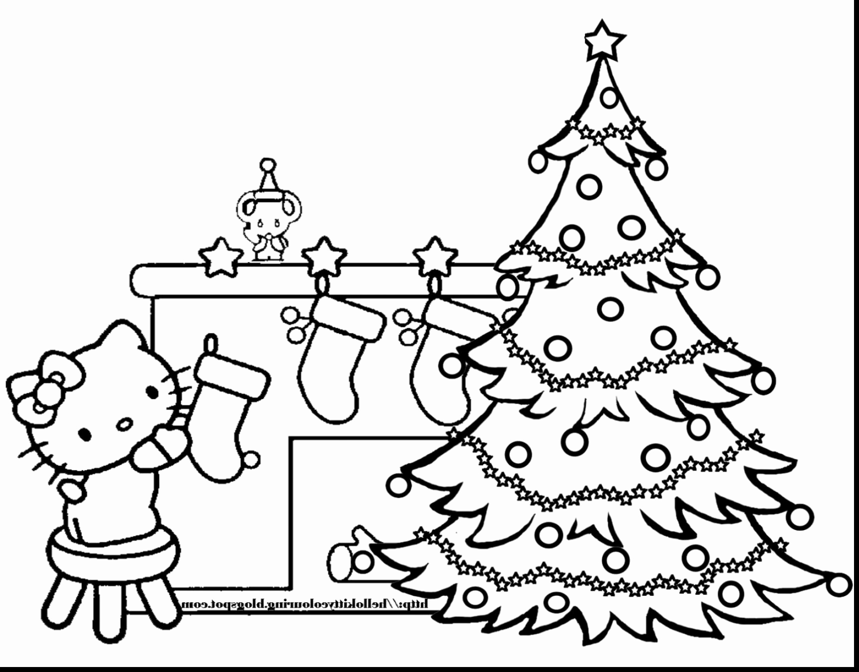 Christmas Tree Coloring Pages For Adults