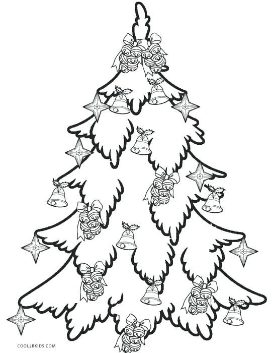 541x700 Printable Christmas Tree Coloring Pages Or Free Printable Tree