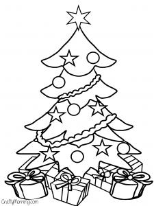 Christmas Tree Coloring Sheets.Christmas Tree Coloring Pages Free Printable At Getdrawings