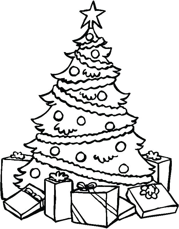 625x800 Christmas Tree Coloring Pages Online Free Online Christmas Tree