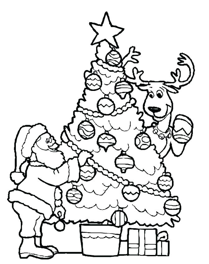 672x848 Christmas Tree Coloring Pages Tree Coloring Page S S Tree Coloring