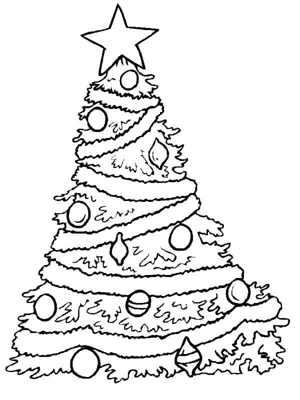 600x800 Christmas Tree Coloring Tree Printable Coloring Page Free Tree
