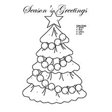 image about Printable Christmas Tree Coloring Pages named Xmas Tree Coloring Webpages On-line at