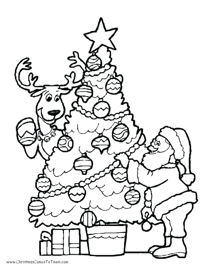 690x900 Christmas Coloring Page