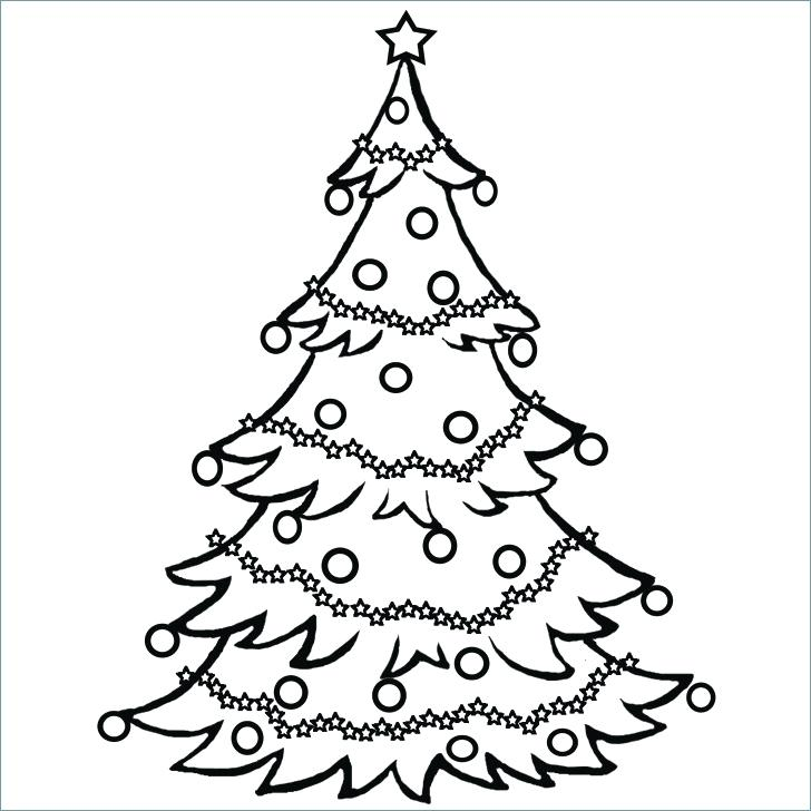 728x728 Christmas Tree Coloring Page