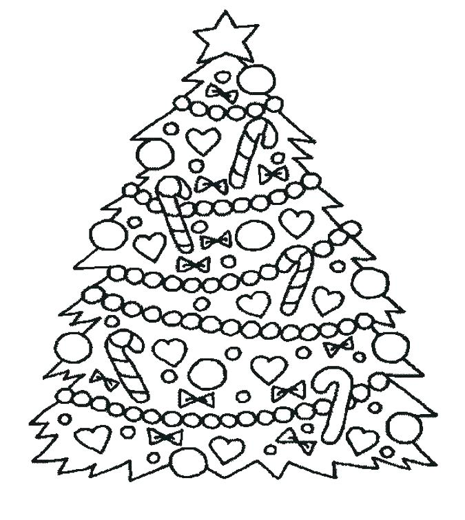675x756 Christmas Tree Coloring Pages Online