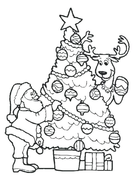 571x721 Christmas Tree Coloring Pages Online