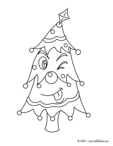 364x470 Christmas Tree Coloring Pages